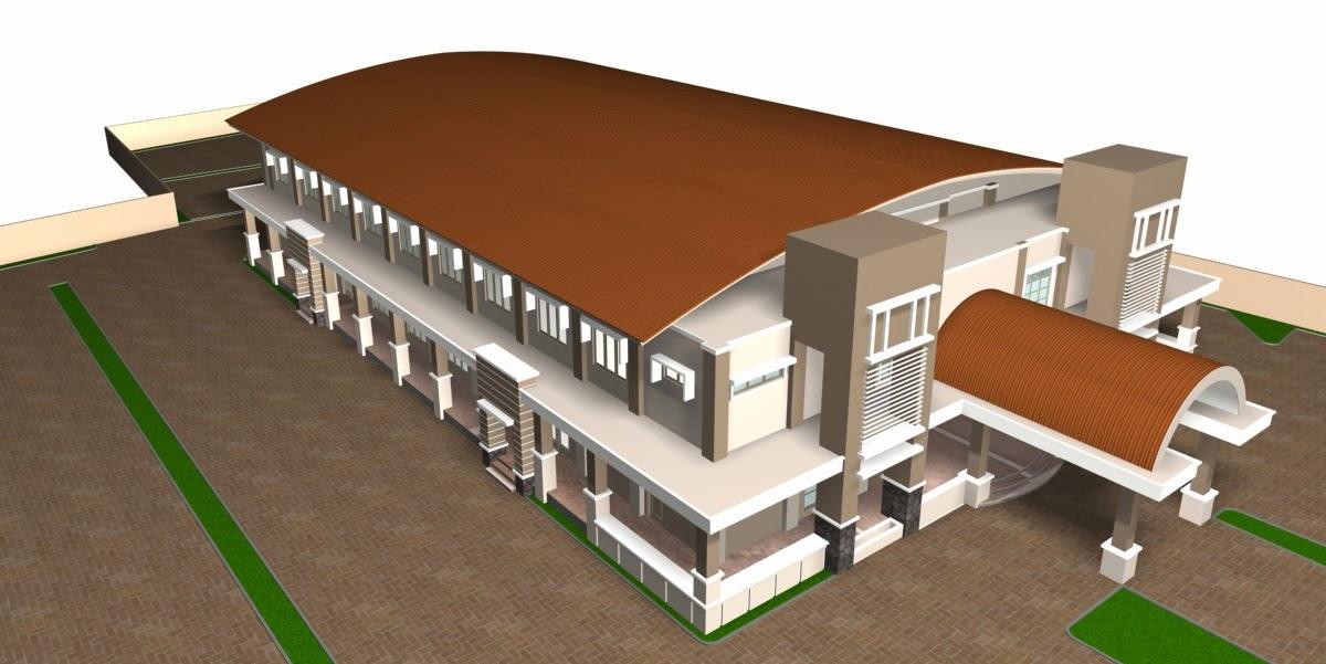 Desain Gedung Serbaguna