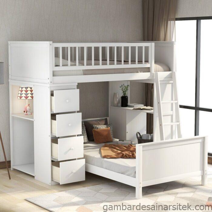tempat tidur anak tingkat noval jati furniture jepara 1